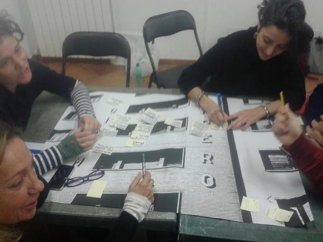 Un momento del lavoro al tavolo sull'analisi dei finanziamenti per il progetto partecipato