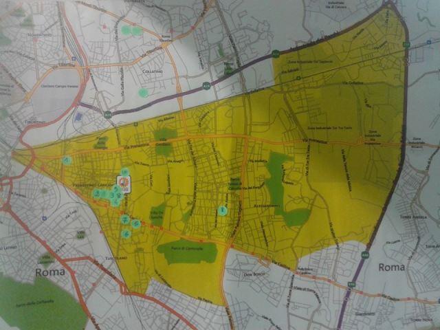 Mappa del Municipio V